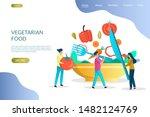 vegetarian food vector website... | Shutterstock .eps vector #1482124769