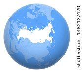 russia on the globe. earth... | Shutterstock .eps vector #1482137420
