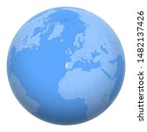 portugal on the globe. earth...   Shutterstock .eps vector #1482137426