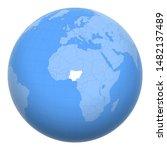 nigeria on the globe. earth...   Shutterstock .eps vector #1482137489