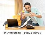 asian man working taking photo... | Shutterstock . vector #1482140993