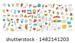 different doodle vector icons... | Shutterstock .eps vector #1482141203