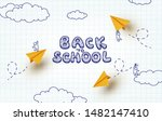back to school notebook... | Shutterstock .eps vector #1482147410