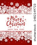 christmas greeting card with... | Shutterstock .eps vector #1482149723
