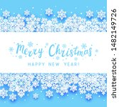 christmas greeting card with... | Shutterstock .eps vector #1482149726