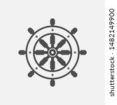 ship steering wheel icon ...