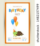 Colorful Party Invitation Card...