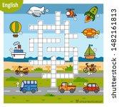 vector colorful crossword in... | Shutterstock .eps vector #1482161813