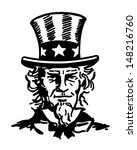 uncle sam 2   retro clip art... | Shutterstock .eps vector #148216760