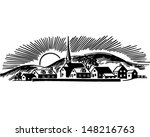 small town   retro clip art... | Shutterstock .eps vector #148216763