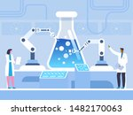 biochemical experiment flat... | Shutterstock .eps vector #1482170063