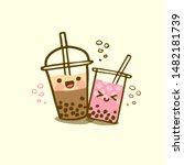 bubble milk tea funny... | Shutterstock .eps vector #1482181739