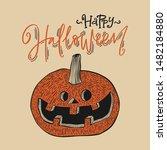 halloween invitation or... | Shutterstock .eps vector #1482184880
