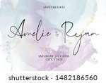 wedding invitation card with... | Shutterstock .eps vector #1482186560