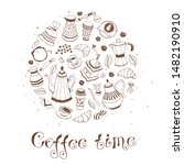coffee time poster concept.... | Shutterstock .eps vector #1482190910