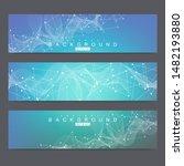 scientific set of modern vector ... | Shutterstock .eps vector #1482193880