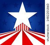 star with usa flag concept... | Shutterstock .eps vector #1482201860