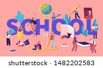 education concept with tiny... | Shutterstock .eps vector #1482202583