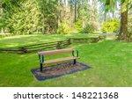 a bench over beautiful outdoor... | Shutterstock . vector #148221368