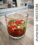 Stock photo tasty thai food recipes chili fish sauce prik nam pla 1482215186