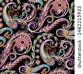 seamless  contrast pattern with ... | Shutterstock .eps vector #1482215933