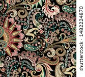 seamless ornate pattern with... | Shutterstock .eps vector #1482224870