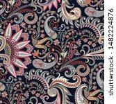 seamless ornate pattern with... | Shutterstock .eps vector #1482224876