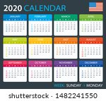 vector template of color 2020... | Shutterstock .eps vector #1482241550