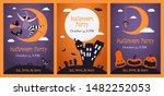 set of halloween party... | Shutterstock .eps vector #1482252053