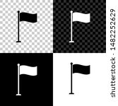 flag icon isolated on black ...