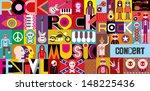 rock concert poster. musical... | Shutterstock .eps vector #148225436