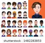 people avatars  vector women ... | Shutterstock .eps vector #1482283853