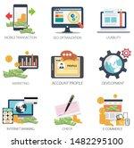 internet design vector icons...   Shutterstock .eps vector #1482295100