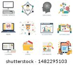 internet design vector icons...   Shutterstock .eps vector #1482295103