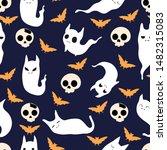 vector seamles halloween... | Shutterstock .eps vector #1482315083