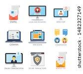 internet design vector icons...   Shutterstock .eps vector #1482327149