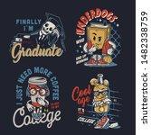 vintage college funny... | Shutterstock .eps vector #1482338759