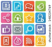 social media icons set 1   flat ... | Shutterstock .eps vector #148234769