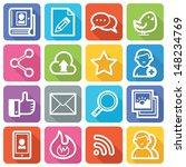 social media icons set 1   flat ... | Shutterstock .eps vector #148234769