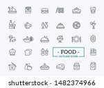 simple set of food related... | Shutterstock .eps vector #1482374966