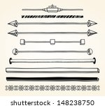 set of dividers  hand drawn.... | Shutterstock .eps vector #148238750