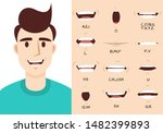 mouth animation. male talking... | Shutterstock .eps vector #1482399893