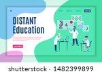 online study web page. internet ...   Shutterstock .eps vector #1482399899