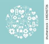 medical design over blue... | Shutterstock .eps vector #148240736