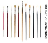 different used art brushes... | Shutterstock . vector #148241108
