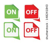 on and off signs board ...