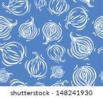 blue onion seamless pattern