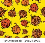 brown onion seamless pattern