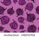 purple onion seamless pattern