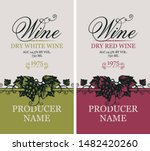 vector set of two labels for... | Shutterstock .eps vector #1482420260